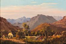 Tinus (Marthinus Johannes)  de Jongh (South African 1885-1942) MOUNTAINOUS