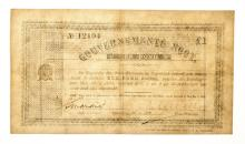 ZAR GOUVERNMENTS NOOT NO. 12104: EEN POND Pretoria: Z.A.R. 18/5/1900 Signed