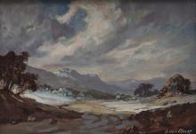 Johan (Johannes) Oldert (South African 1912-1984) RIVER LANDSCAPE NEAR ARMI