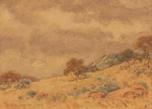 Erich (Ernst Karl)  Mayer (South African 1876-1960) LANDSCAPE signed and da