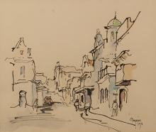 Gregoire Johannes Boonzaier (South African 1909-2005) STREET SCENE signed a