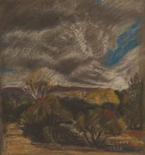 Leonora Everard-Haden (South Africa 1937-) LANDSCAPE WITH APPROACHING STORM