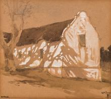 William Mitcheson Timlin (South African 1893-1943) HOUSE signed pencil and
