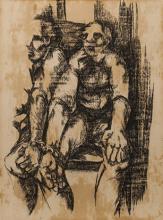 Ezrom Kgobokanyo Sebata Legae (South African 1938-1999) PRISONERS signed an