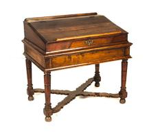 A CAPE STINKWOOD BIBLE DESK, 19TH CENTURY the hinged rectangular sloping li