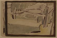 Walter Whall Battiss (South African 1906-1982) FOREST signed and dated 1941