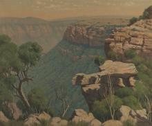 Willem Hermanus Coetzer (South African 1900-1983) LANDSCAPE signed and date