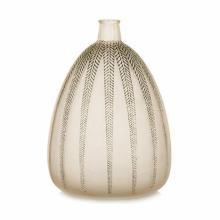 'MIMOSA': A LALIQUE FROSTED AND BLUE PATINATED VASE, 1920?s designed 1921,