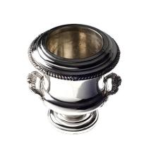 AN ELECTROPLATE  ICE BUCKET, EARLY 20TH CENTURY the urn-shaped body with a