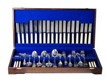 AN ASSEMBLED SET OF SILVER CUTLERY, VARIOUS MAKERS AND DATES, NEWCASTLE AND