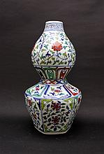 Large Chinese Ming Porcelain DouCai Vase