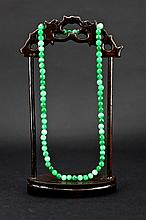 Chinese Green Jadite Necklace