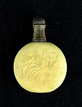 Old Chinese Bone Carved Snuff Bottle