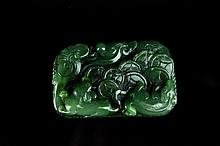 Chinese Neat Hand Carved Jade Figure