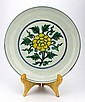 Chinese Ming Dou Cai Yellow Flower Plate