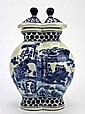 Chinese double Ceramic Blue & White Jar