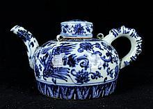 Chinese Ming Porcelain Blue&White; TeaPot