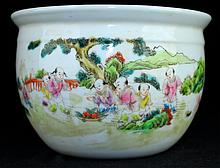 Chinese Qing Porcelain Famille Rose Urn