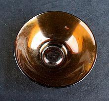 18th Century Amber Peking Glass Bowl