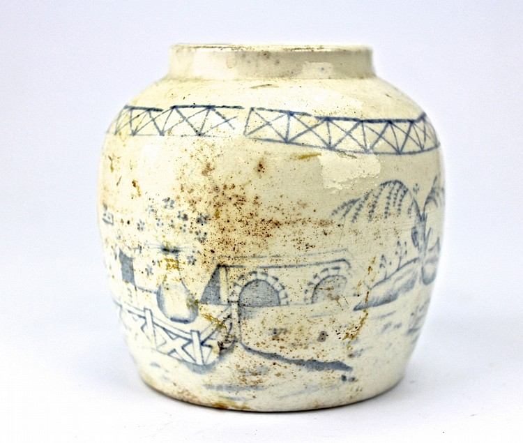 Chinese Blue & White Ceramic Vase