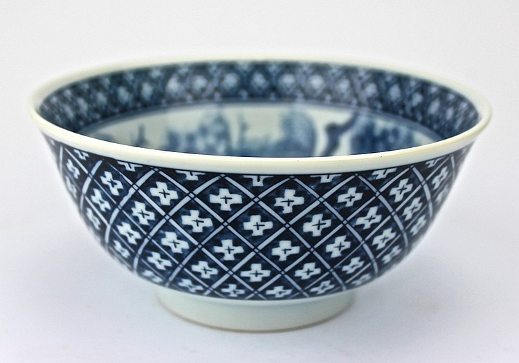 Chinese Blue & White Ceramic Bowl