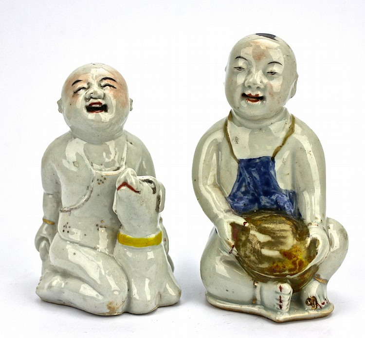 Pair of Chinese Boys figures
