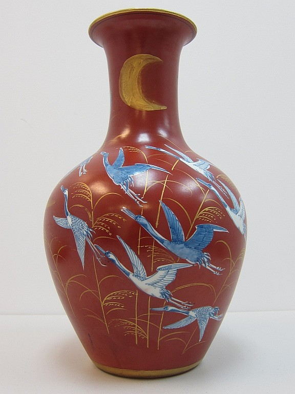 Chinese red glazed large vase