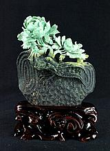 Chinese Neat Hand Carved Jade Figure6 x 6 1/4 x 1 1/2
