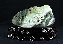 Chinese Neat Hand Carved Jade Figure7 1/2 x 4 x 2 7/8