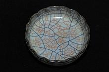 Chinese Song Porcelain GeYao Plate4 x 1