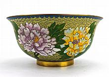 Chinese Cloisonne Floral Bowl