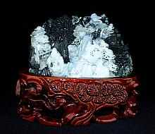 Old Chinese Natural Hand Carved Jade Figure