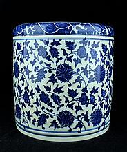 Chinese Qing Porcelain Blue&White; Brush Pot