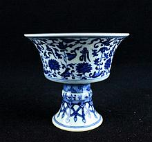 Chinese Qing Porcelain Blue&White; Handle Cup