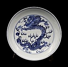 Chinese Qing Porcelain Blue&White; Plate