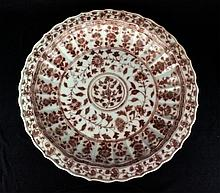 Large Ming Porcelain Under Red Plate