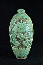 Chinese Porcelain Green Vase