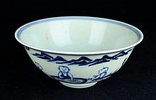 Chinese Ming Porcelain Blue&White; Porcelain Bowl