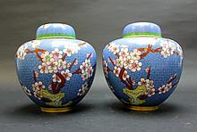 Pair of Chinese Jing Tai Lan Jar with Lid