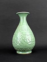 Chinese Qing Porcelain Long Quan Vase