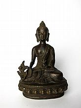 Old Chinese Bronze Buddha Figure
