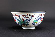 Chinese Ming Porcelain DouCai Bowl