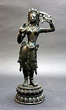 Old Bronze Buddha Figure
