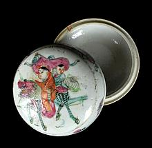 Chinese Porcelain Famile Rose Box