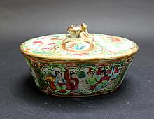 Old Chinese Porcelain Pot with Lid