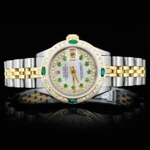 Rolex YG/SS DateJust 1.00ct Diamond Ladies Watch