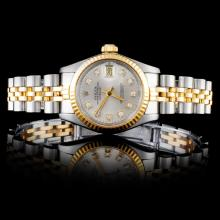 Rolex YG/SS DateJust Ladies Diamond Wristwatch