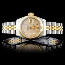 Rolex TT DateJust Ladies Diamond Wristwatch