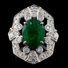 14K Gold 3.63ct Emerald & 1.24ct Diamond Ring