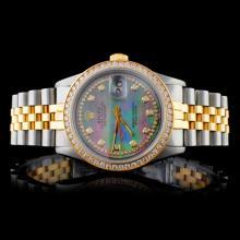 Rolex YG/SS DateJust 1.50ct Diam Men's Wristwatch